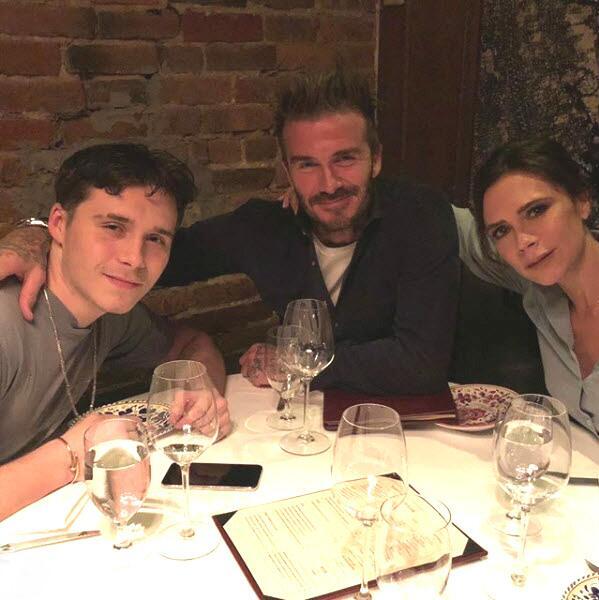 Victoria Beckham  y su hijo mayor
