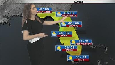 Ventana al Tiempo: Temperaturas frías para la madrugada de este lunes en Miami