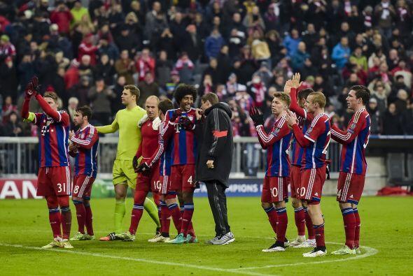 Aunque la cima del Grupo E ya la tenía asegurada, el Bayern Munich cerró...