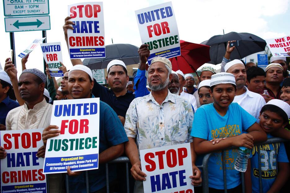 Hombres de distintas edades expresaron su deseo de justicia y paz en Que...