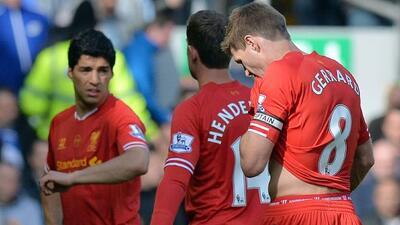 Caras largas entre el plantel de los 'Reds', pues sabían que su esfuerzo...