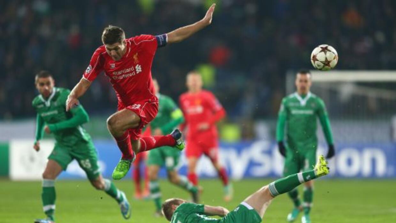 El Ludogorets le sacó un empate al conjunto de Anfield con todo y Gerrard.