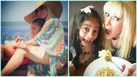 Yuri adoptó en 2009 a su hija Camila.