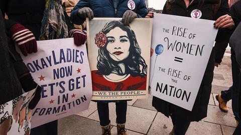 Millones de mujeres salieron a las calles el pasado 21 de enero para par...