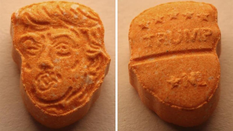 Las pastillas de éxtasis con el rostro de Trump.