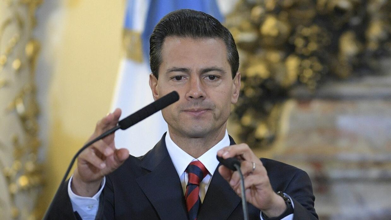 El presidente mexicano Enrique Peña Nieto, en una visita a Argentina en...