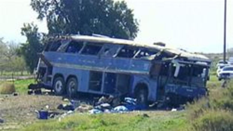 Autobus involucrado en terrible accidente