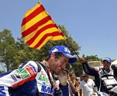 En Motos, el español Marc Coma se proclamó campeón del Dakar 2011 por te...