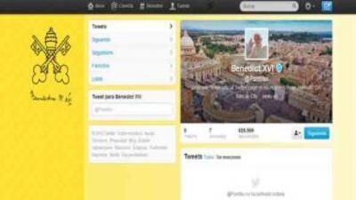 Así luce el Twitter de Benedicto XVI.
