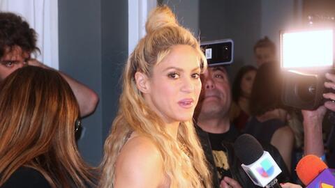 Shakira durante su encuentro con los medios de comunicación, poco...