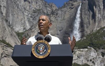 Obama habla desde el parque Yosemite, en California