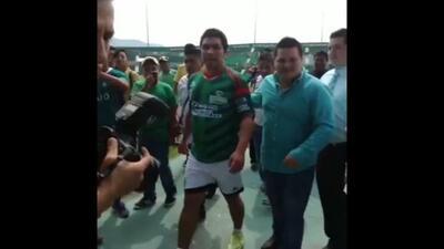 Salvador Cabañas se entrena con Jaguares para su homenaje