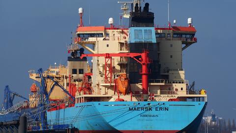Maersk Erin, a Danish flagged tanker.