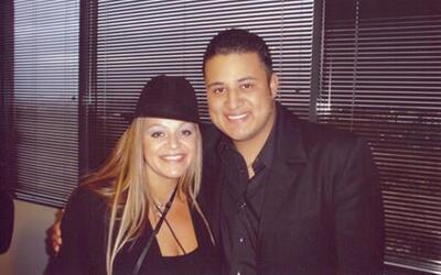 Jesse Lechuga con Jenni Rivera