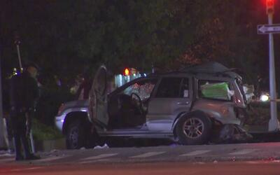 Dos personas resultaron heridas durante un accidente de tránsito en Manh...