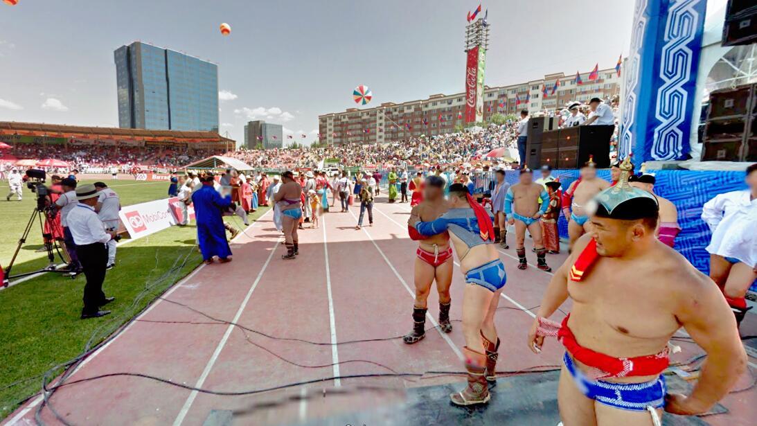 Con una capacidad de 5,000 personas, el Estadio Nacional  de Mongolia fu...