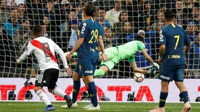 Quintero confesó que ensayó el disparo de la voltereta ante Boca un día previo a la Final