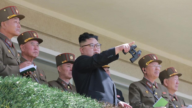 El líder norcoreano Kim Jong-un en una imagen sin fecha distribui...