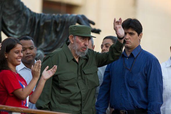 El ex presidente cubano Fidel Castro habló durante 45 minutos en...