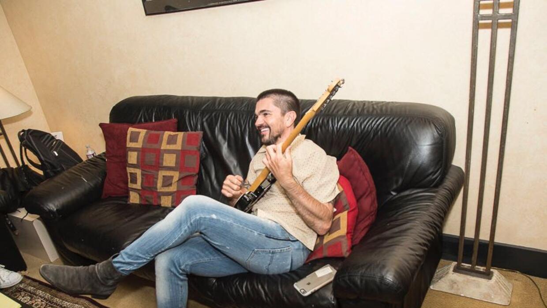 Momento durante la grabación de su nuevo disco.