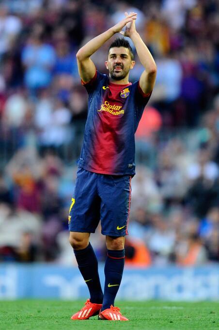 El 'Guaje' David Villa se vistió con la playera del Barcelona, p...