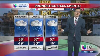 Fuertes tormentas para este miércoles en Sacramento