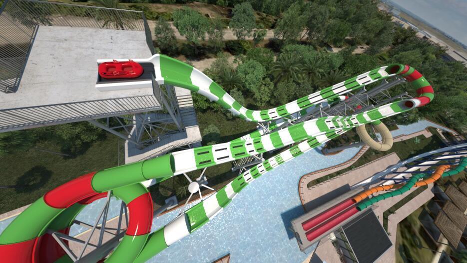 En Texas, se inauguró el tobogán más alto del mundo