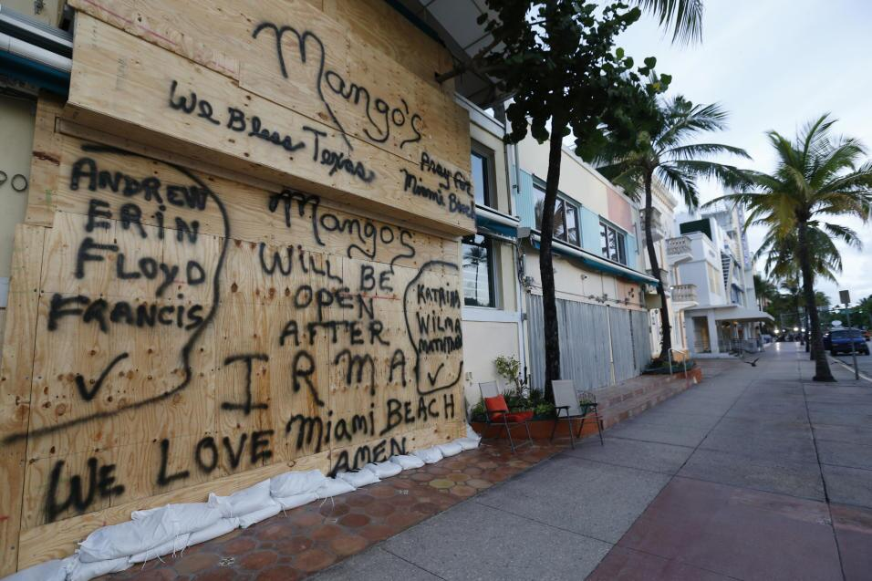 Mango's a popular tourist venue on Miami Beach was boarded up before...