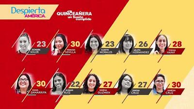 Tras el conteo de puntos y un reñido empate, estas son las primeras cinco quinceañeras en salir de la competencia