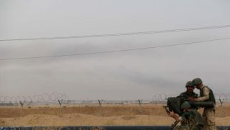 Milicianos iraquíes buscan yihadistas en Kirkuk.