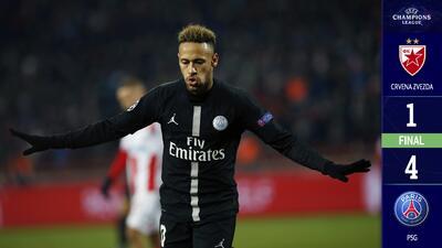 El Paris goleó al Estrella Roja y avanza como primer lugar del Grupo C