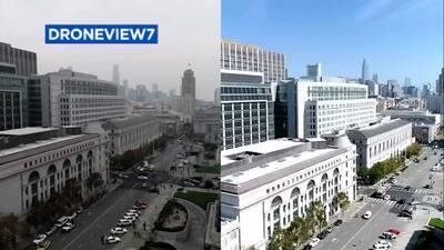 Así se ven los efectos en la calidad del aire en San Francisco