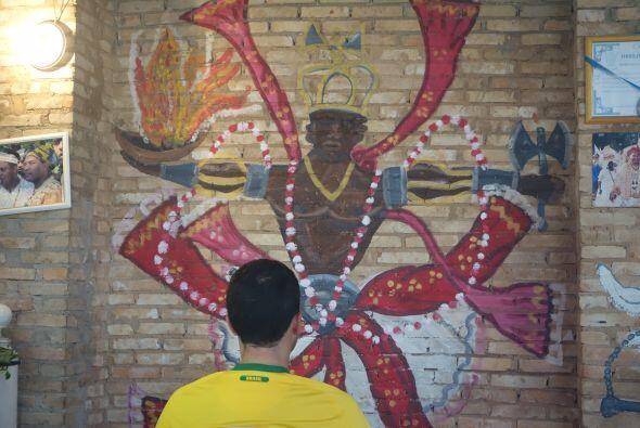 Durante su estancia en Brasil, Carlos Calderón quiso aprovechar p...