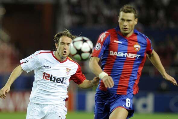 El CSKA se puso en ventaja gracias a un tanto de Necid.