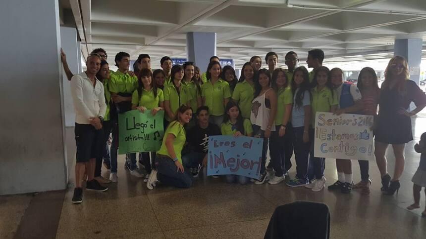 El joven participante de La Banda fue recibido en su natal Coamo tras se...