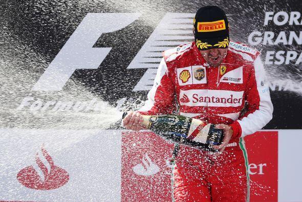 El español Fernando Alonso (Ferrari) repitió éxito...