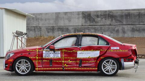 Mercedes-Benz C-Class 2013 NHTSA 5-Star Crash Test