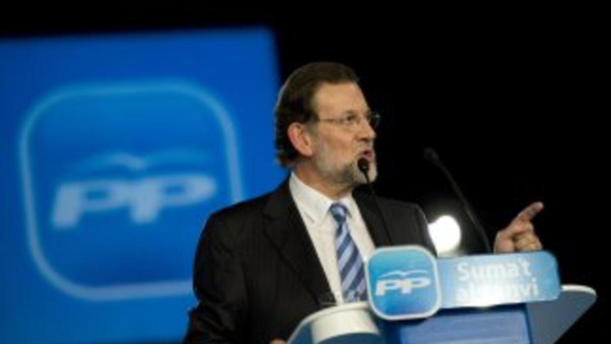 Mariano Rajoy, canddiato del Partido Popular.