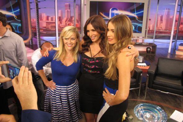 Disfrutamos mucho de la visita de Reese Witherspoon y Sofía Vergara.