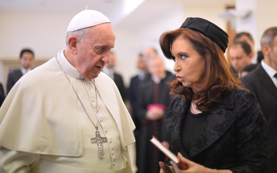 Pope Francis meets with Argentina's President Cristina Fernandez de...