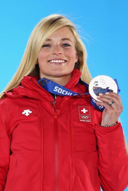 La medallista de bronce Lara Gut es originaria de Suiza y tiene 22 a&nti...