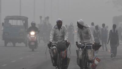 La contaminación del aire asfixia a Nueva Delhi