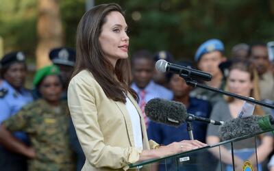 Angelina Jolie reapareció en público en Kenia