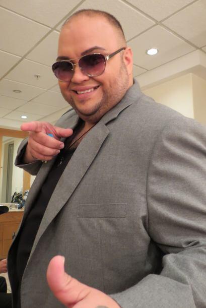 Ricardo en camerinos antes del estreno.