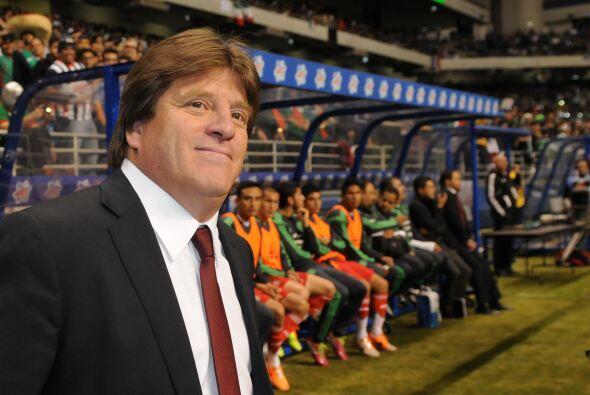 El 'Piojo' Herrera se mostró relajado y contento durante los minutos pre...