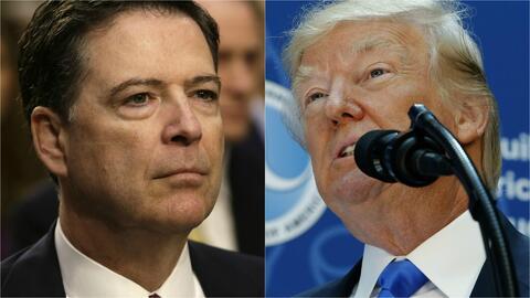 El presidente Trump busca descalificar el testimonio de James Comey y lo...