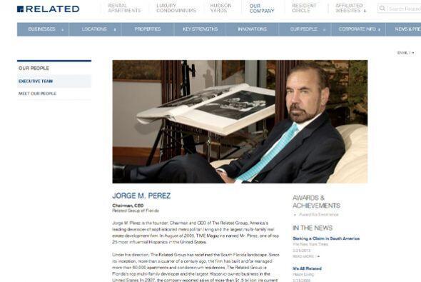 4. The Related Group  Ubicación- Miami, Florida.  CEO- Jorge Perez.  Tip...