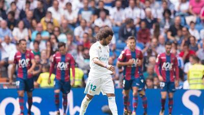 Real Madrid no superó a la barrera azulgrana del Levante en la Liga de España