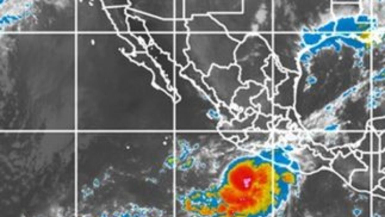 La tormenta tropical Marty. (Imagen de satélite del Servicio Meteorológi...