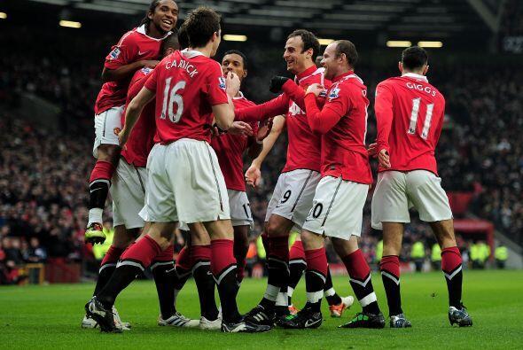 El 'Man-U' festejaba, el equipo sigue invicto en la Liga.